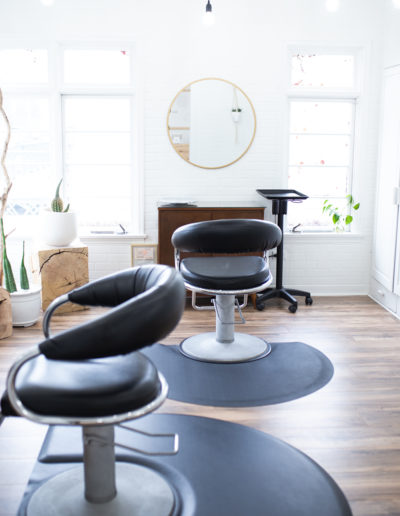 The Nest Salon | Chairs in Front Room