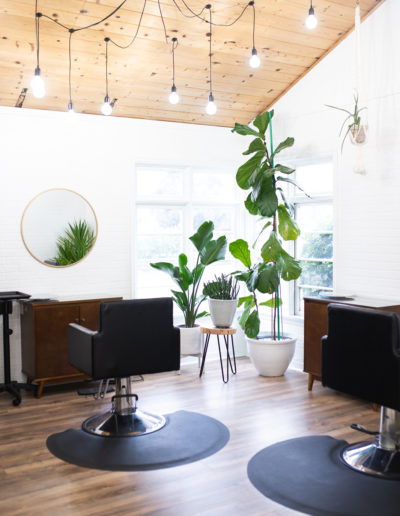 The Nest Salon | Chairs in the Back Room